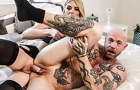 Hot TS Mandy bangs FTM Bucks wet pussy so deep