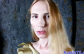 Russian trans analplays after stripping