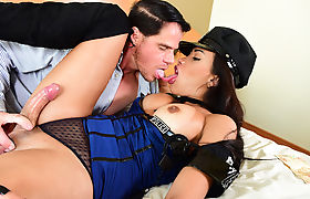 Tgirl Juliana rides stud Alex Victor hardcock
