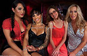 TS Pussy Hunters - Foxxy, Jessica Fox, Jay Taylor & Simone Sonay