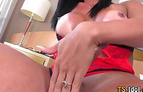 Trans babe pounding ass