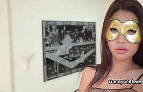 Asian trans beauty fucks good