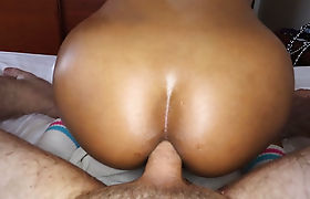 Tighty ladyboy shemale jumped at a strangers hard cock