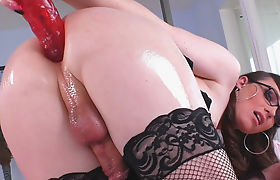 Transsexual Natalie Mars Loves Her Toy