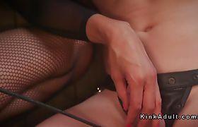 Tranny mistress anal bangs her slave