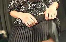 Amazing Sara Roberto Gaucho Lifts Dress to show Bigcock