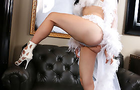 Horny Brunette TGirl Alexa Scouts hardcore anal with BBC