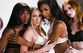 Transgender Lingerie Model Does It With a Nice Ebony Girl - Ana Foxxx,