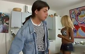 Blonde Shemale Handjob