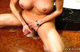 Wet and Stroking Mariana Cordoba