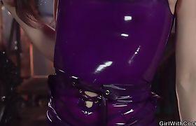 Small tits tranny anal fucks male slave