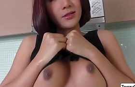 Horny TS Mickey bounces on her boyfriend with a big cock