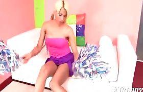 Sheyrie Stunning T-Girl Cheerleader Part 01