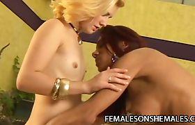 Gyslene Rodrigues - Black Tranny Penetrating A Small Tits White Female