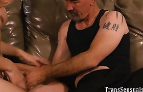 Trans babe rimmed and railed