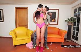 Latina tranny fucks guys horny ass