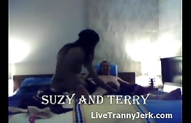 Horny couple fucks live on cam
