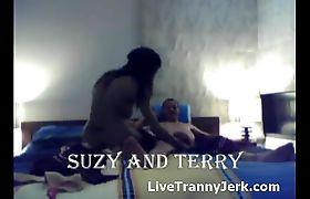 Horny couple fucks live on cam