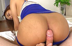 Young Asian ladyboy handjob and bareback anal riding