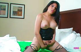 Vivian Black shows her big cock