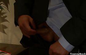 Shemale anal punishes pervert dude